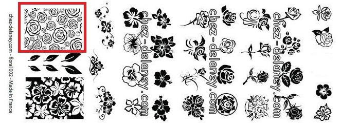 20141017 manucure esprit roses gothiques halloween plaque Floral 002 delaney
