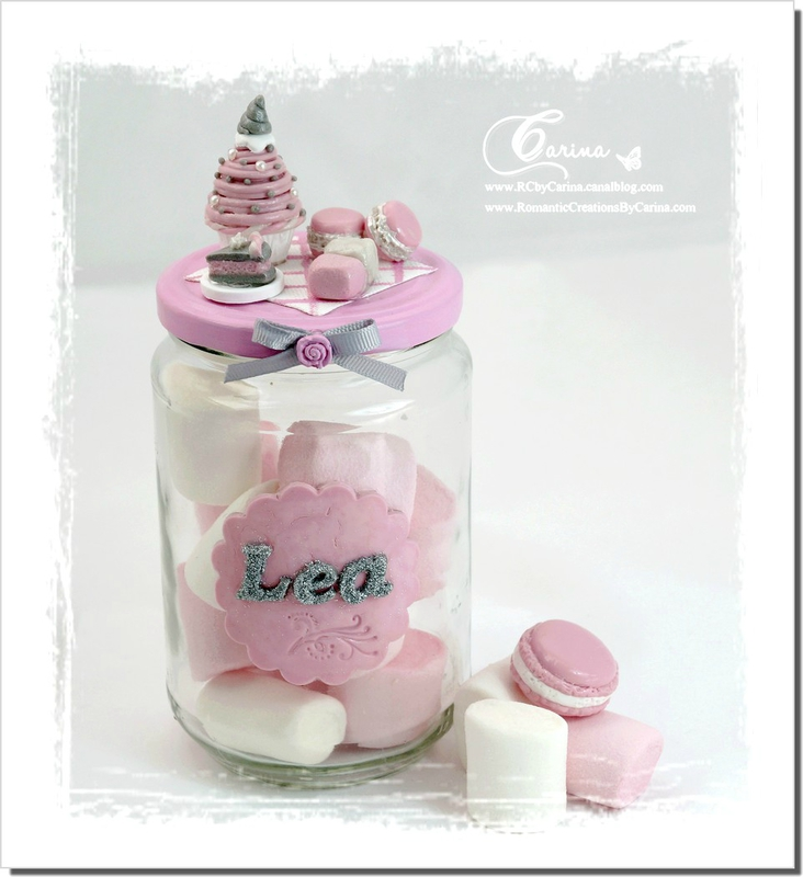 Pot gourmandises Rose & Gris 1