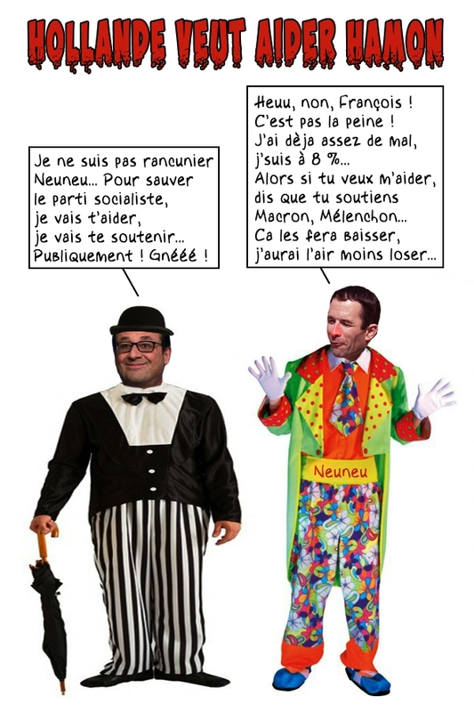 hollande-hamon-charlot-clown-bulles