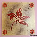 Canvas fleurs chipboards