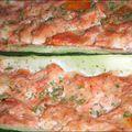 Courgettes farcies au surimi