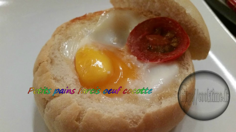 Petit pain farcis oeuf cocotte thermomix 4