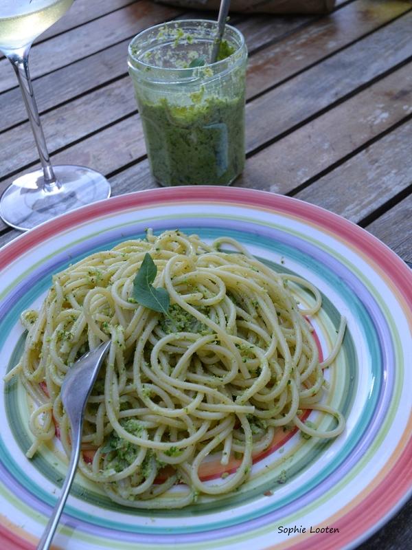 Pâtes pesto de brocoli