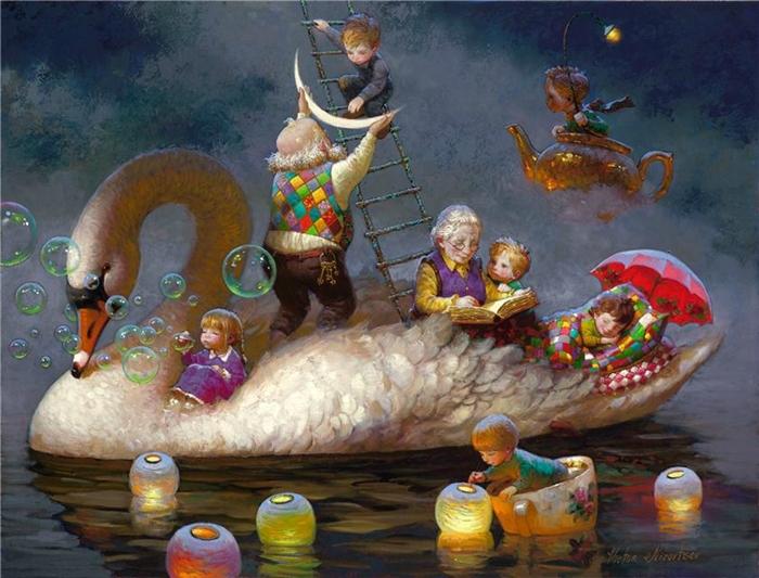 Siren song - Victor Nizovtsev 1965 - Russian Fantasy painter - Tutt'Art@ (17)