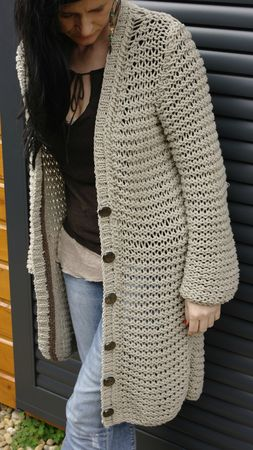 modele gros gilet tricot