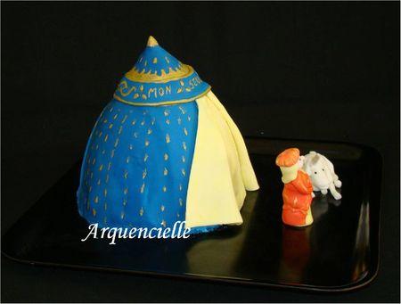 Gâteau 3D tapisserie Dame à la licorne biais