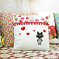 Coussin kawaii double face