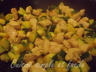 risotto courgettes poulet 02