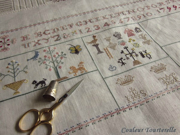 Mother's sampler 1799 Couleur Tourterelle 1-1