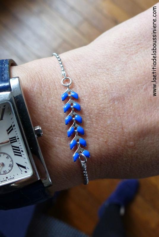 Bracelet César (bleu nuit, argenté) - 16 €