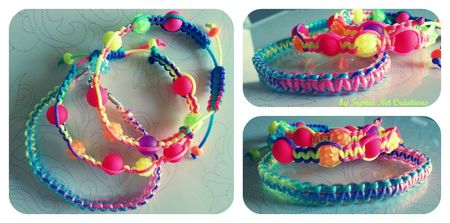 Collage shamballa scoubidous + s