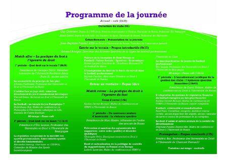 FootballDroit-Programme