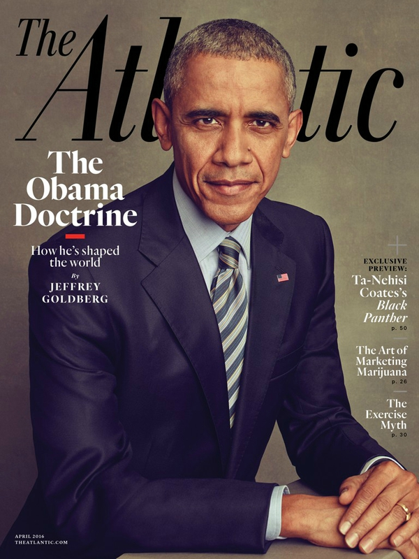 Barack Obama cover of The Atlantic magazine