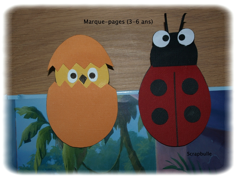 Marque-pages 3-6 ans