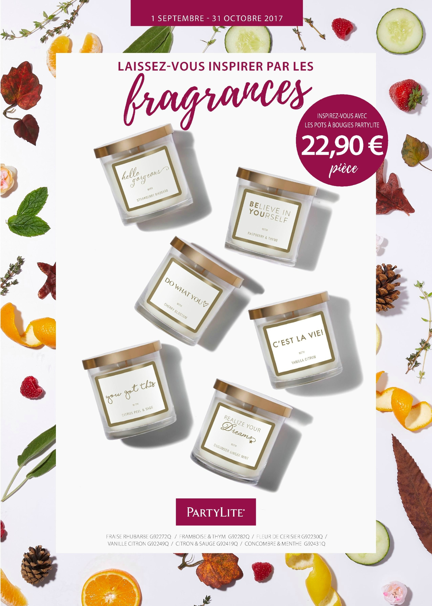 Fragrances Inoubliable Du 01 Septembre au 31 Octobre 2017