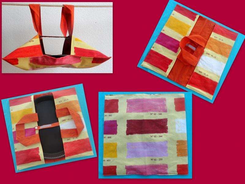 Montage Palette couleurs chaudes
