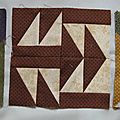 Farmer's wife sampler quilt: trois blocs de plus