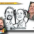 Noces d'etain - 10 ans de mariage - cadeau caricatures