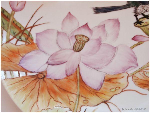 detail plat aux lotus defi alm reve de porcelaine