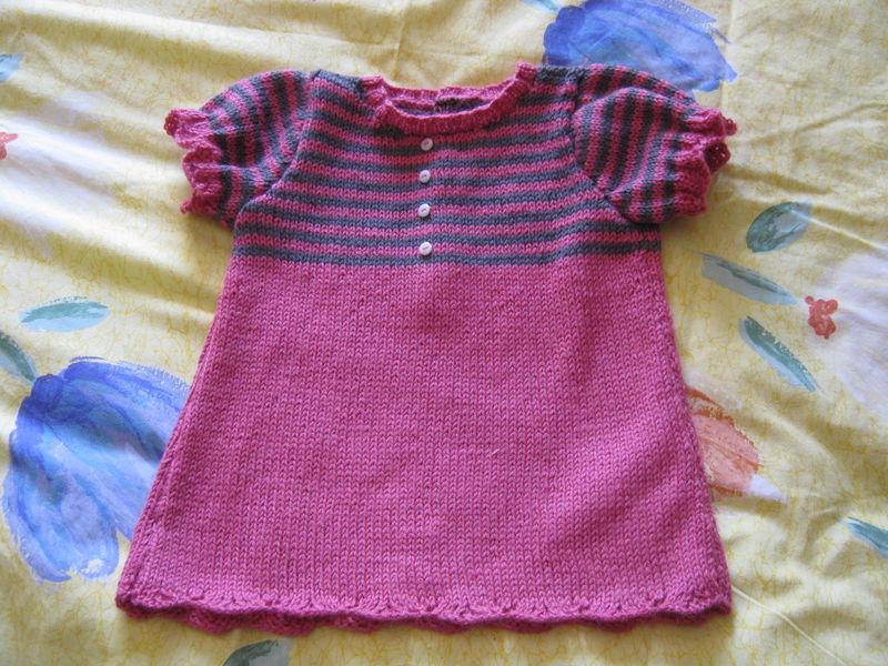 tricoter une robe pour fille