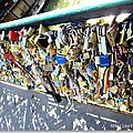 Mots d'amour cadenasss , pont de l'archevch