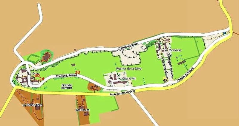 Dive streetmap 20, 24, 30 chemin du prieuré