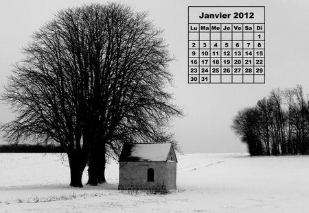 Calendrier Janvier 2012