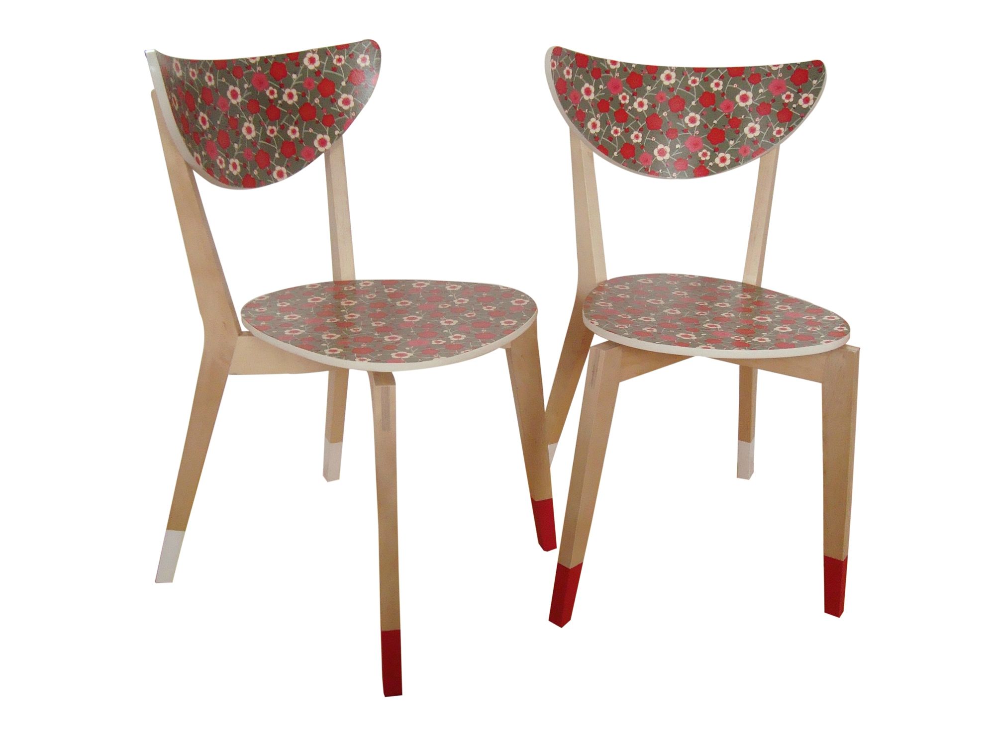 Chaises IKEA - collage papier washi