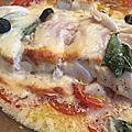 Cabillaud aux tomates et aux olives, sauce parmesan.