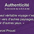 Authenticité, marcel proust