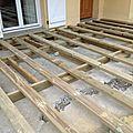 Terrasses bois et composites = l'ossature doit