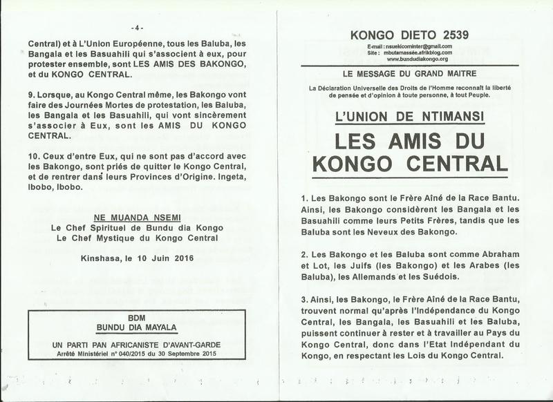 LES AMIS DU KONGO CENTRAL a