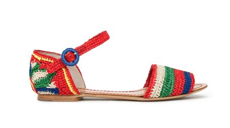 dolce et gabbana crochet shoes