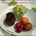 Muffins chocolat, amandes & noix