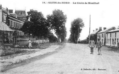 SAINS DU NORD-Croix de Montfort