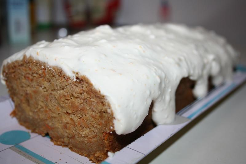 gâteau carotte Lili's k et glaçage frischkäse citron orange