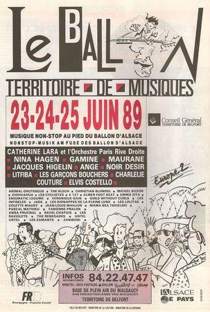 Magazine Territoire Affiche Eurockéennes 1987R