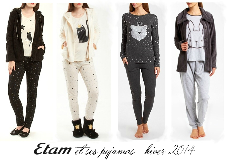 etam et ses pyjamas trop miiiignons pour l 39 hiver 2014. Black Bedroom Furniture Sets. Home Design Ideas