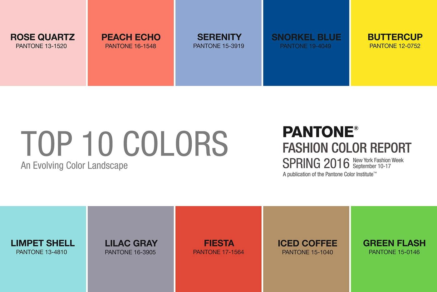 couleurs pantone 2016