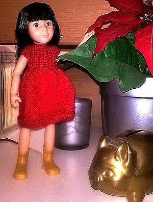 Luna dans sa nouvelle robe