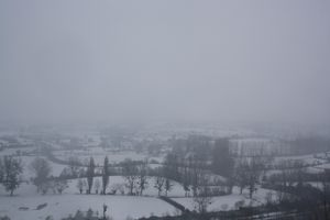 Avranches neige 18 janvier 2013 campagne Saint-Jean de la Haize