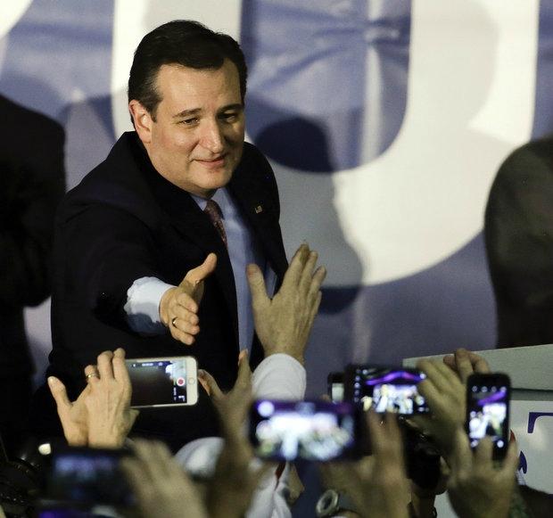 Ted Cruz fter winning iowa caucus