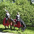balade à cheval médiévale - Abbaye de Hambye (46)