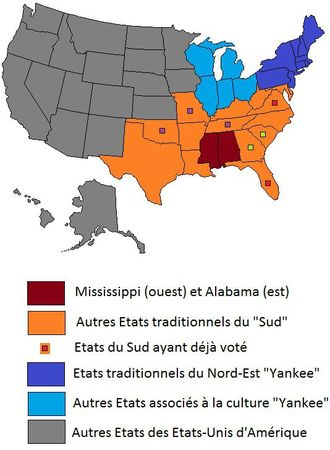 Southern primaries with yankees