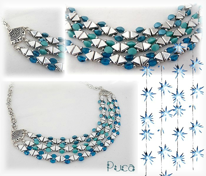 Planche collier CamilleTurquoise