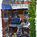02. Montréal - Vue depuis la terrasse du 9 et demi