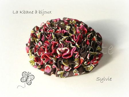 broche liberty fleuri rouge marron2