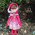 Le petit chaperon rouge pour la poupée de ma fille !
