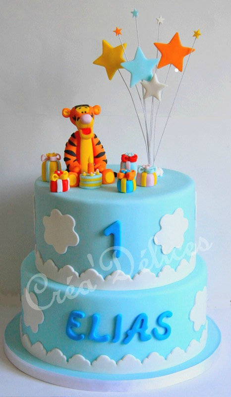 Gâteau Tigrou Nuages