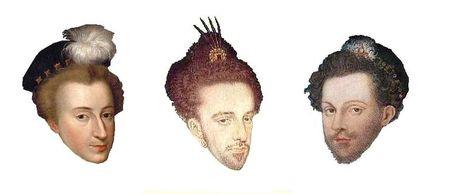 toques de 1576 à 1578